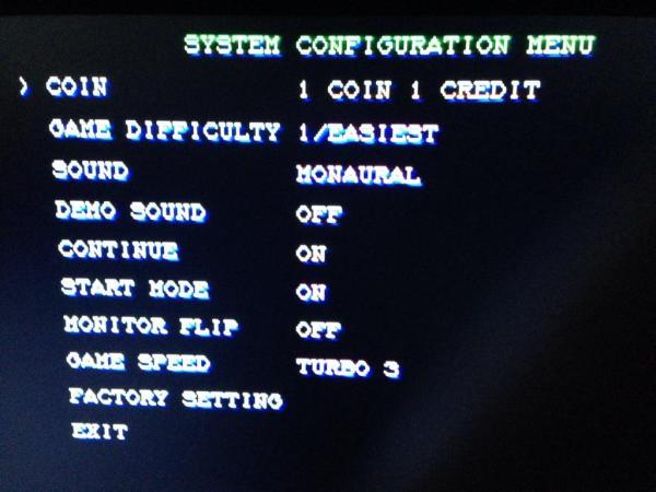 CPS2マザーボード設定
